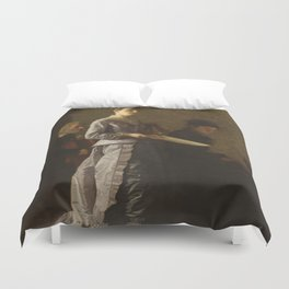 Singing a Pathetic Song Oil Painting by Thomas Eakins Duvet Cover