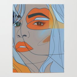 lip filler pop art Poster