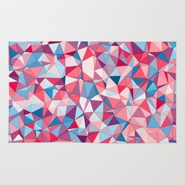 Colorful Low Poly Design Rug