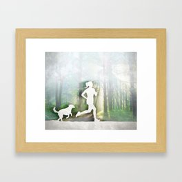 Forest Run Framed Art Print