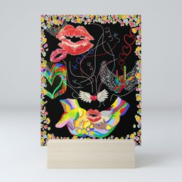 Throwing Kisses and I Love Yous Mini Art Print