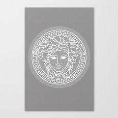 Versace Grey Canvas Print