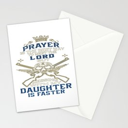 Mess With My Daughter Stationery Cards