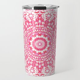 Mandala 12 / 2 eden spirit ruby red Travel Mug