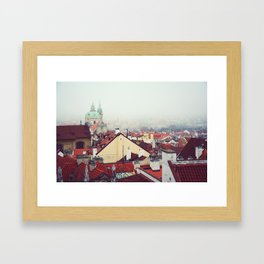 Prague rooftops. Framed Art Print