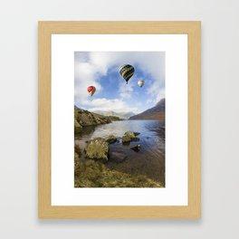 Lake Flight Framed Art Print