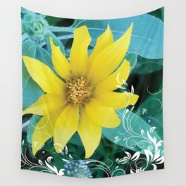 Shine like a Sunflower Wall Tapestry