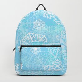 Snowflakes - Blue Backpack