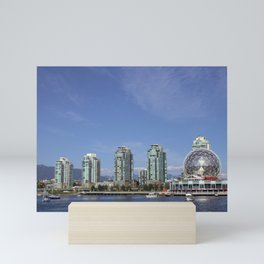 science world and skyscrapers Mini Art Print