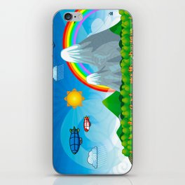 Child fantasy landscape iPhone Skin