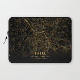 Basel, Switzerland - Gold Laptop Sleeve