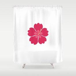 Colourful hibiskus flower Shower Curtain