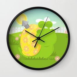 Green Snail (male) Wall Clock