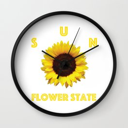 Sunflower State Wall Clock