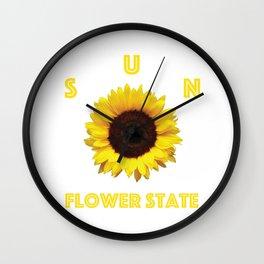 Sunflower State Wall Clock