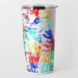 Colored Cat Travel Mug