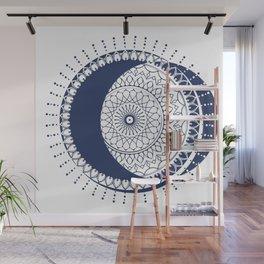 Moon Mandala (Dark Blue) Wall Mural