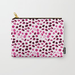 Pink Black Dots Cute Pattern Carry-All Pouch