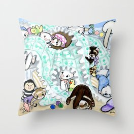 Unmaking the Bed Throw Pillow