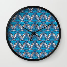 African pattern with orange Wall Clock