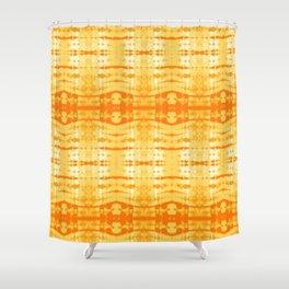 Satin Shibori Yellow Shower Curtain