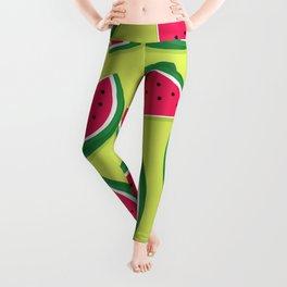 Juicy Watermelon Slices Leggings