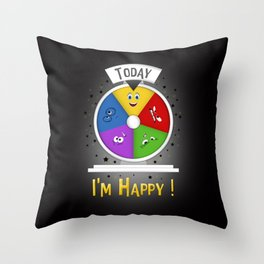 I am Happy Throw Pillow