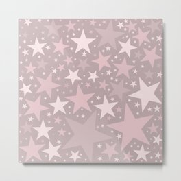 Pink Popping Candy Stars Metal Print