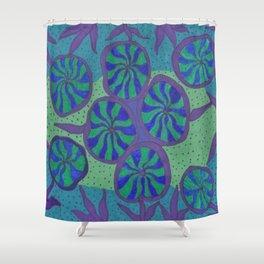 Blue Ocean Groove Shower Curtain