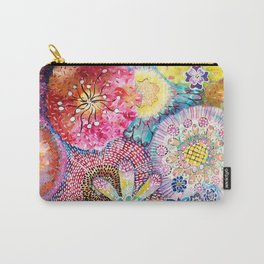 Flowered Table Carry-All Pouch