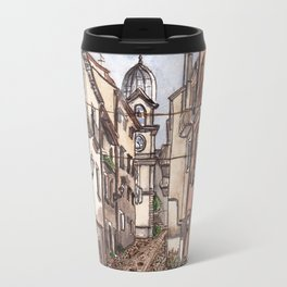 Street view of Corso Carmine Cerisano on the south of Italy Travel Mug