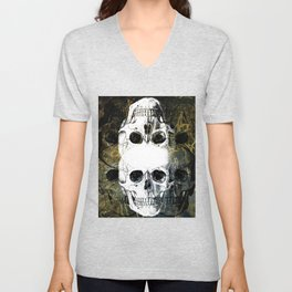 Skull Graffiti 1.0 Unisex V-Neck