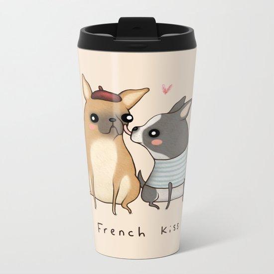 French Kiss Metal Travel Mug