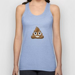 Smiling Poo Emoji (Colored Background) Unisex Tank Top