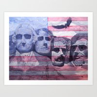america Art Prints featuring America by K. M. B. Wells
