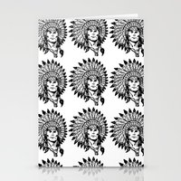 headdress Stationery Cards featuring Headdress by Gregg Deal