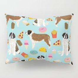 St. Bernard junk food fast food french fries dog breed pattern cute pet gifts Pillow Sham