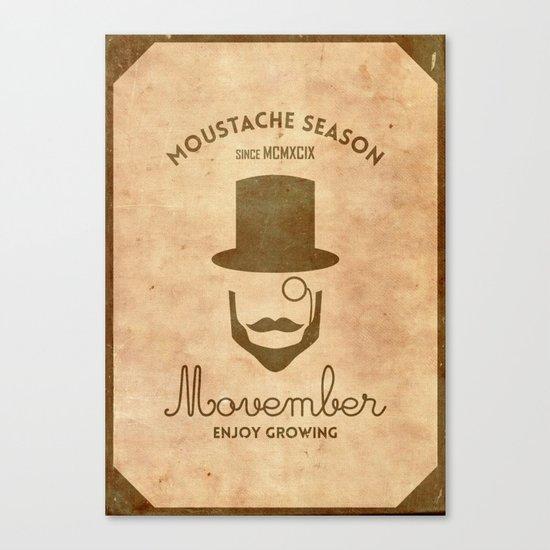 Moustache season Canvas Print