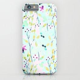 pastel fleurettes iPhone Case