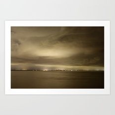 Fort Myers Beach during a storm Art Print