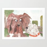 "...and they call it ""Puppy Love"". Art Print"