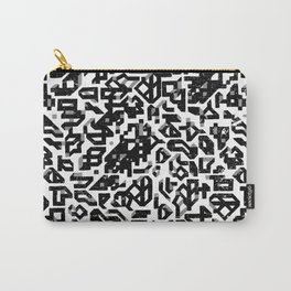 To Build A Castle_ Black and white Carry-All Pouch