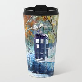 Starry Winter blue phone box Digital Art iPhone 4 4s 5 5c 6, pillow case, mugs and tshirt Travel Mug