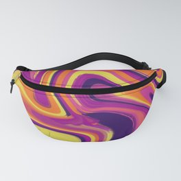 Sunset mixup - Digital Paint Push Fanny Pack