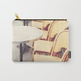 Paris Cafe, Classic Parisian coffee chairs Carry-All Pouch
