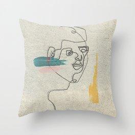 Staring Throw Pillow