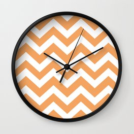 Sandy brown - pink color - Zigzag Chevron Pattern Wall Clock