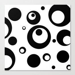 Circles Dots Bubbles :: White Salt Canvas Print