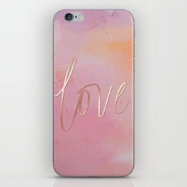 Love in the Clouds - Pink iPhone Skin