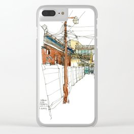 vintage city Clear iPhone Case